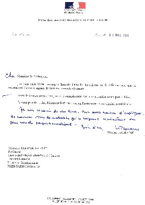 Lettre Ministre Touraine livre Pr Sabate intestin irritable colopathie