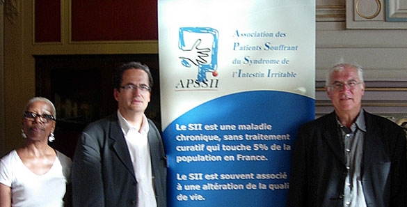 Nice congrès du GFNG lancement APSSII association de patients souffrant du syndrome intestin irritable (ou colopathie fonctionnelle)